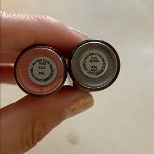 MAC Cosmetics Makeup - Two MAC Mini Pigments in Rose and Blue Brown